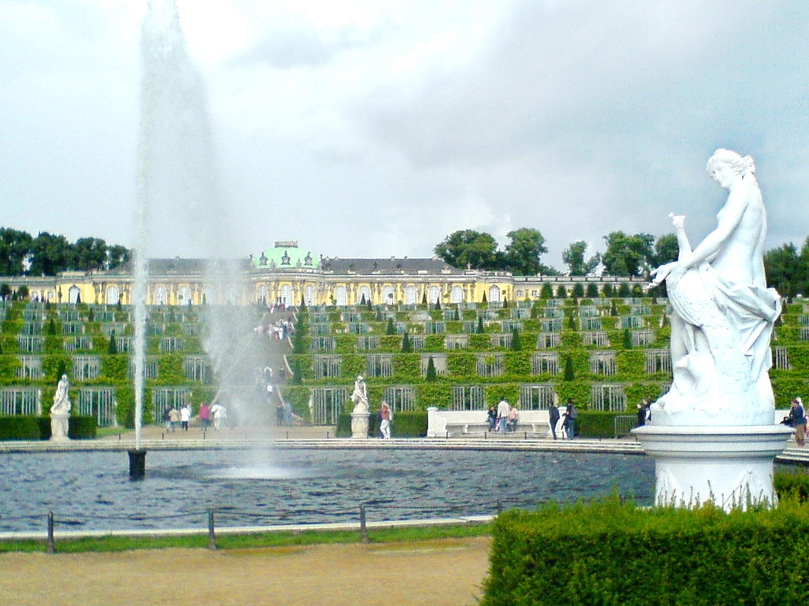 Sanssouci parkas (Schloss Sanssouci park, Potsdamas