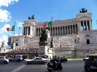 Vittoriano rūmai Romoje. Italija