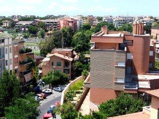 Viešbučio rajonas Romoje. Italija