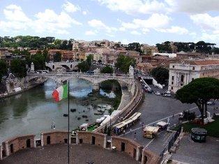 Roma nuo Angelų pilies stogo. Italija