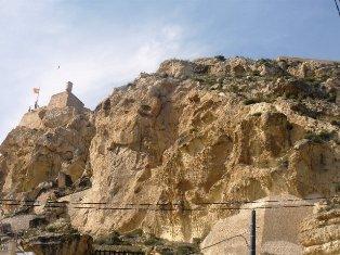 Alicante. Castillo de Santa Barbara. Ispanija
