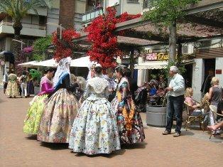 Pasiruošimas šventėms Alikantėje. Ispanija