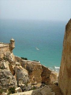 Vaizdas nuo Santa Barbaros pilies. Ispanija