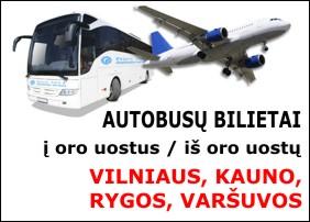 Autobusai į Vilniaus, Kauno, Rygos, Varšuvos oro uostus ir iš jų