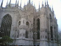 Milano Duomo katedra. Italija