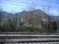 Interrail. Vaizdas pro traukinio langą