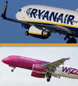 Pigių skrydžių bendrovių apžvalga: Ryanair ar Wizzair?