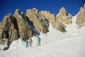 Traukiniu į Cortina d'Ampezzo
