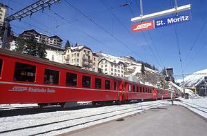 Traukiniu į St.Moritz