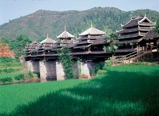 Chengyang vėjo ir lietaus tiltas, Kinija
