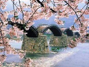 Kintaikyo tiltas, Iwakuni, Japonija