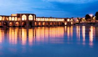 Khajou tiltas, Esfahan, Iranas