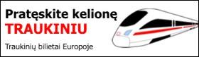 Traukinių bilietai, kelionės traukiniu Europoje