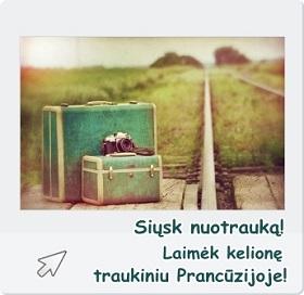 Atsiųsk nuotrauką ir laimėk traukinio bilietus dviems I-ąja klase Prancūzijoje!