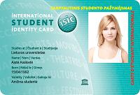 ISIC - tarptautinis moksleivio/studento pažymėjimas